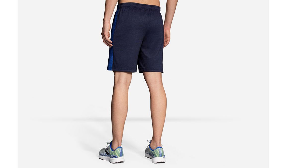 "Men's Brooks Rep 8"" Shorts - Color: Heather Navy/Cobalt Size: S, Heather Navy, large, image 2"
