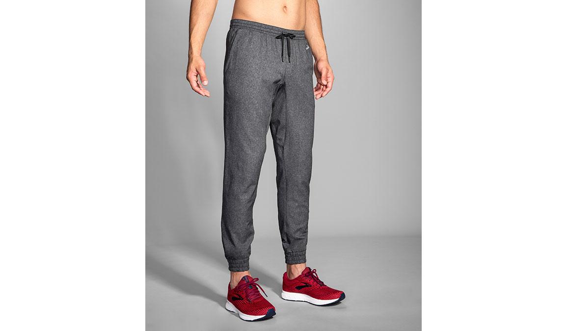Men's Brooks Rush Jogger  - Color: Heather Black Size: M, Heather, large, image 1