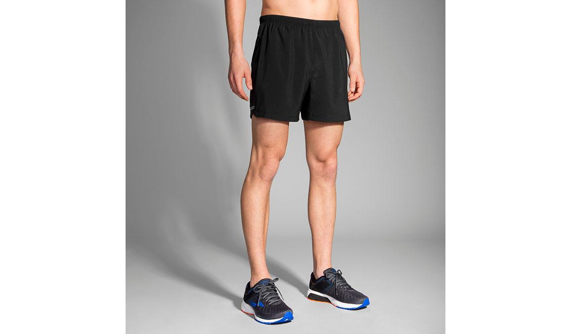 "Men's Brooks Sherpa 5"" Shorts - Color: Black Size: S, Black, large, image 1"