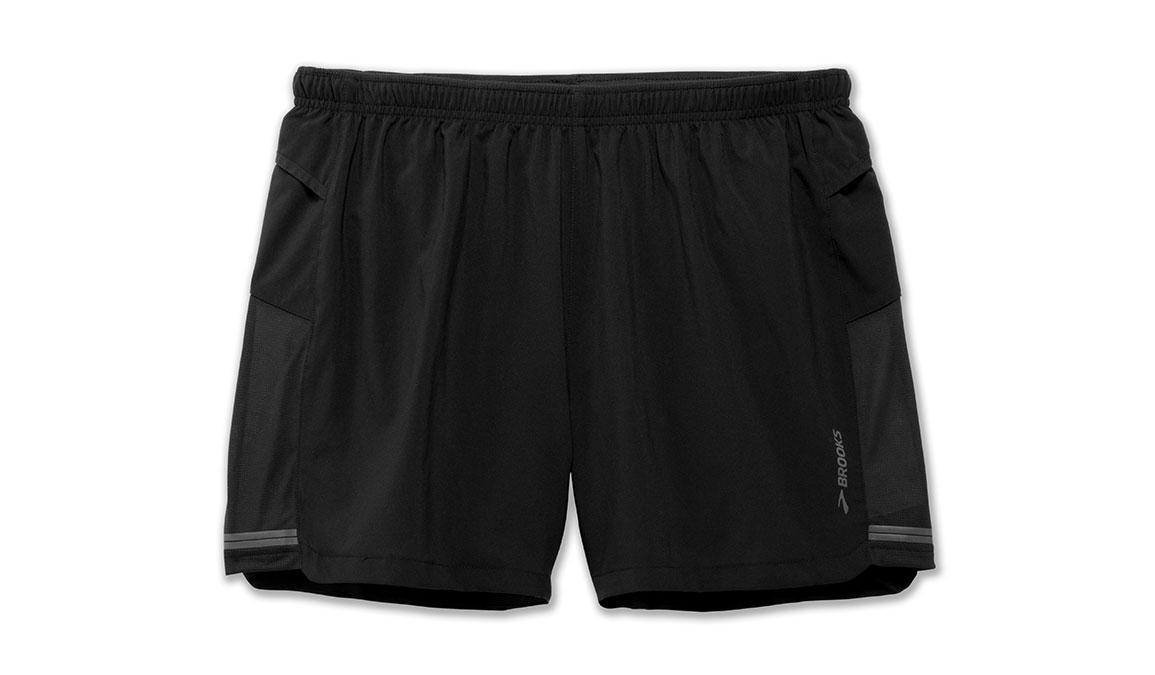 "Men's Brooks Sherpa 5"" Shorts - Color: Black Size: S, Black, large, image 2"