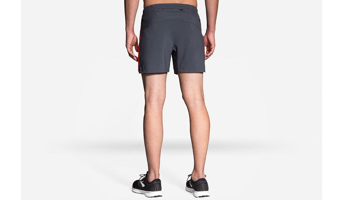 "Men's Brooks Sherpa 5"" Short - Color: Ash/Lava - Size: S, Ash/Lava, large, image 2"