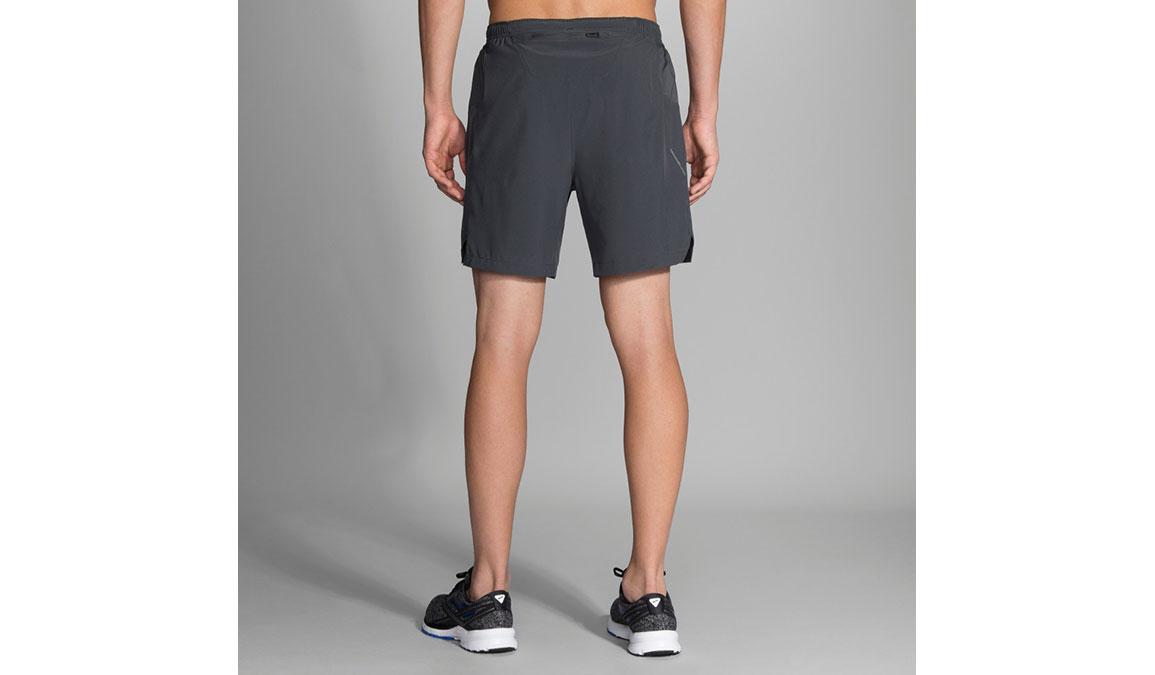 """Men's Brooks Sherpa 7"""" 2-In-1 Shorts - Color: Asphalt Size: XS, Asphalt, large, image 2"""