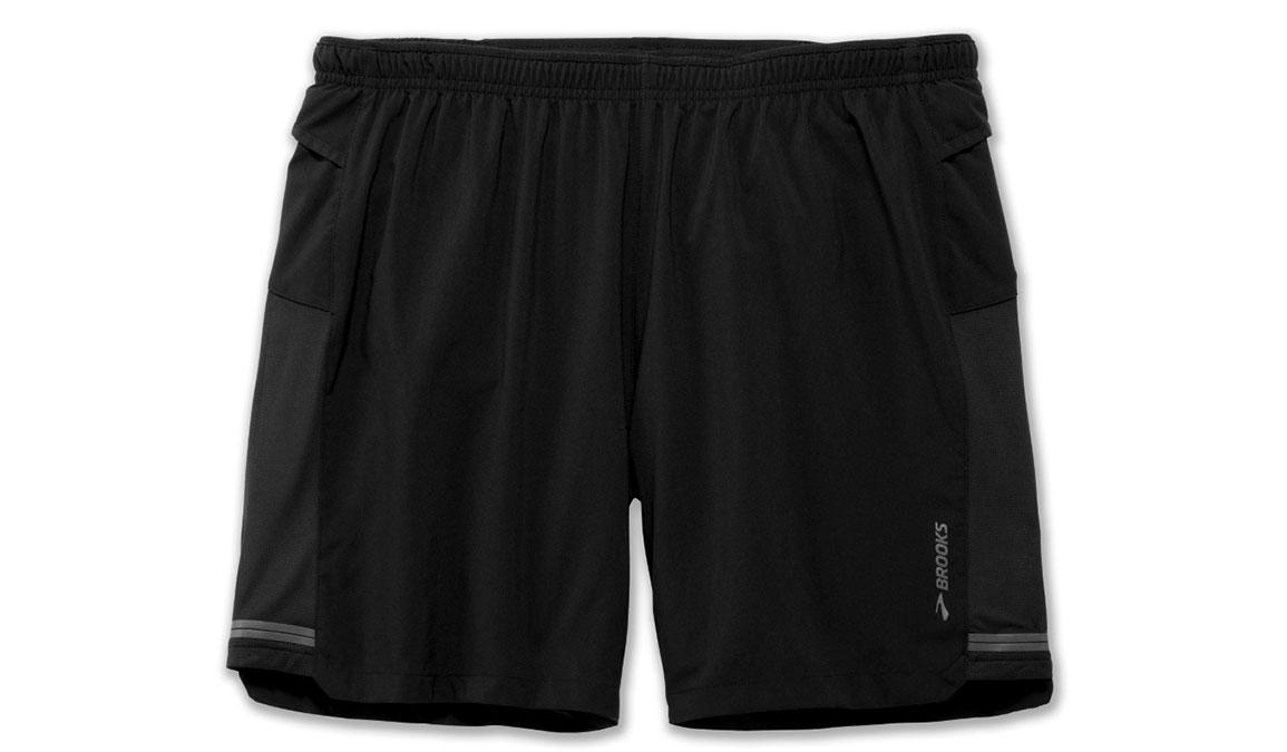 """Men's Brooks Sherpa 7"""" 2-In-1 Short - Color: Black - Size: XXL, Black, large, image 2"""