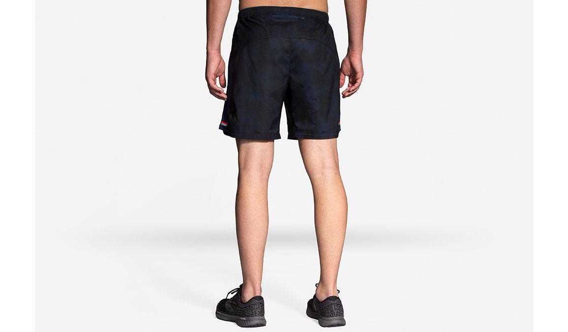 "Men's Brooks Sherpa 7"" 2-in-1 Shorts - Color: Navy Haze Size: S, Navy/Black, large, image 2"