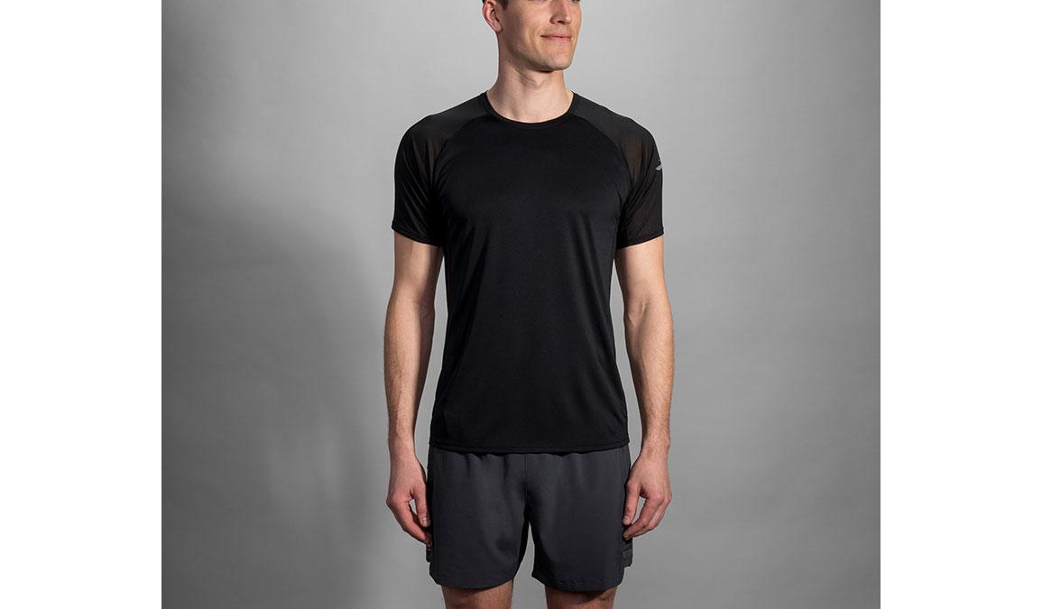 Men's Brooks Stealth Short Sleeve - Color: Black Size: L, Black, large, image 1