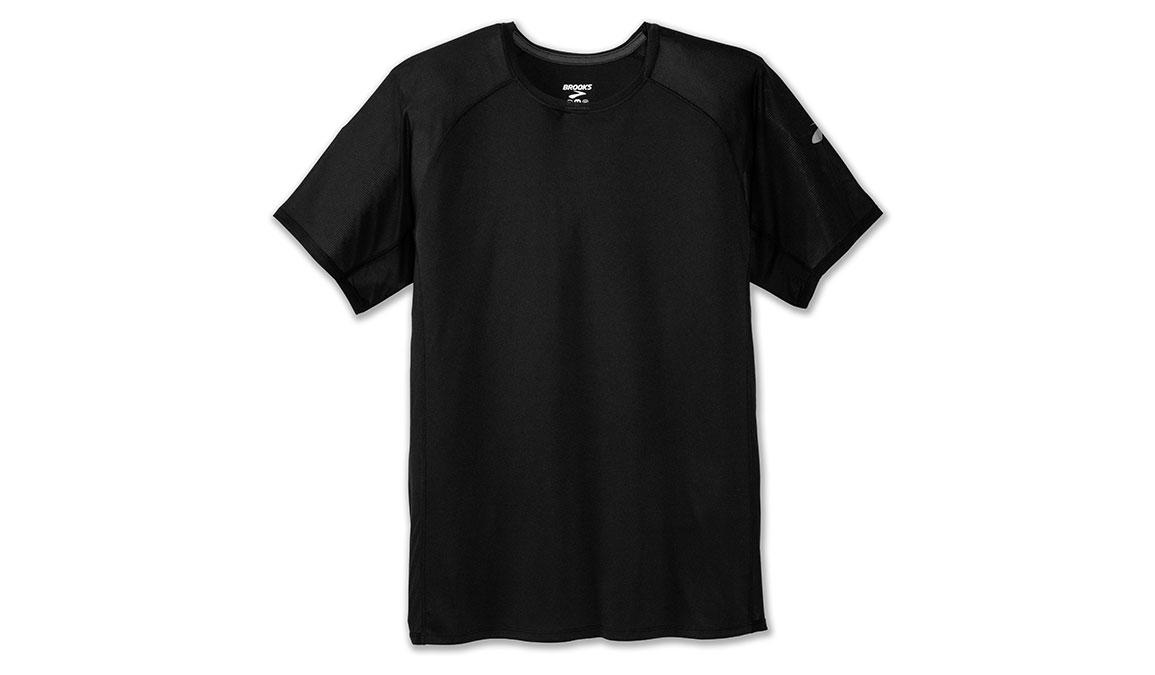 Men's Brooks Stealth Short Sleeve - Color: Black Size: L, Black, large, image 2