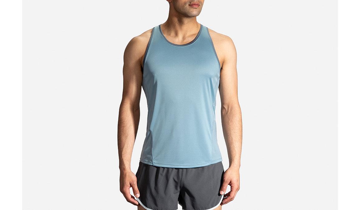 Men's Brooks Stealth Singlet - Color: Slate/Asphalt Size: S, Slate, large, image 1