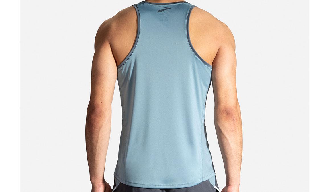Men's Brooks Stealth Singlet - Color: Slate/Asphalt Size: S, Slate, large, image 2