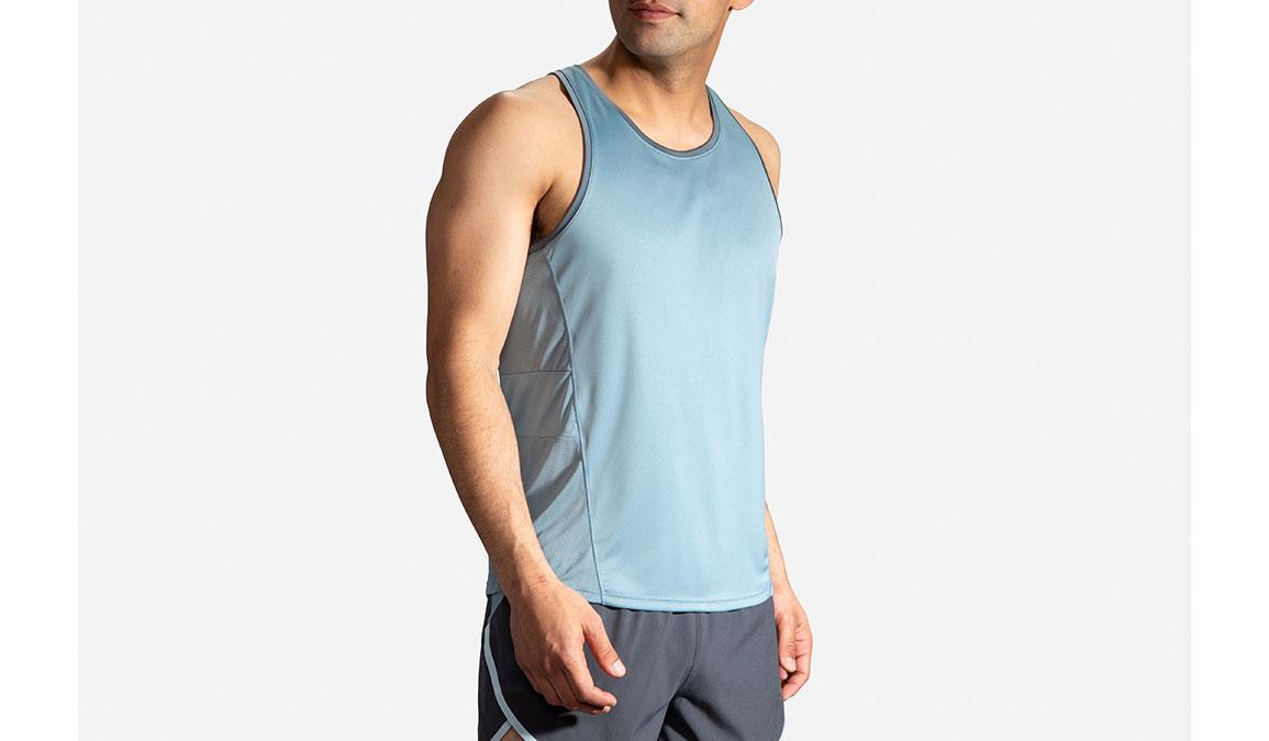 Men's Brooks Stealth Singlet - Color: Slate/Asphalt Size: S, Slate, large, image 3