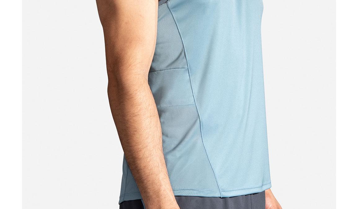 Men's Brooks Stealth Singlet - Color: Slate/Asphalt Size: S, Slate, large, image 4