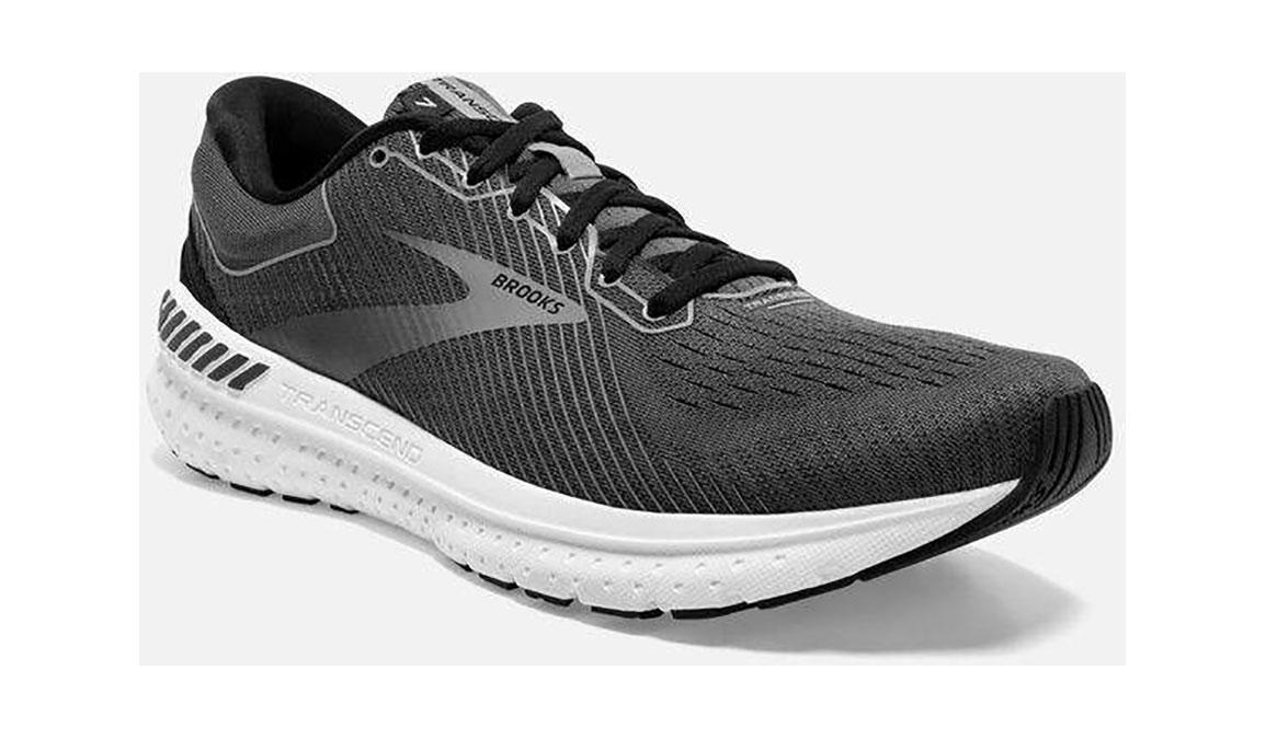 Men's Brooks Transcend 7 Running Shoe - Color: Black/Ebony (Regular Width) - Size: 12, Black, large, image 2