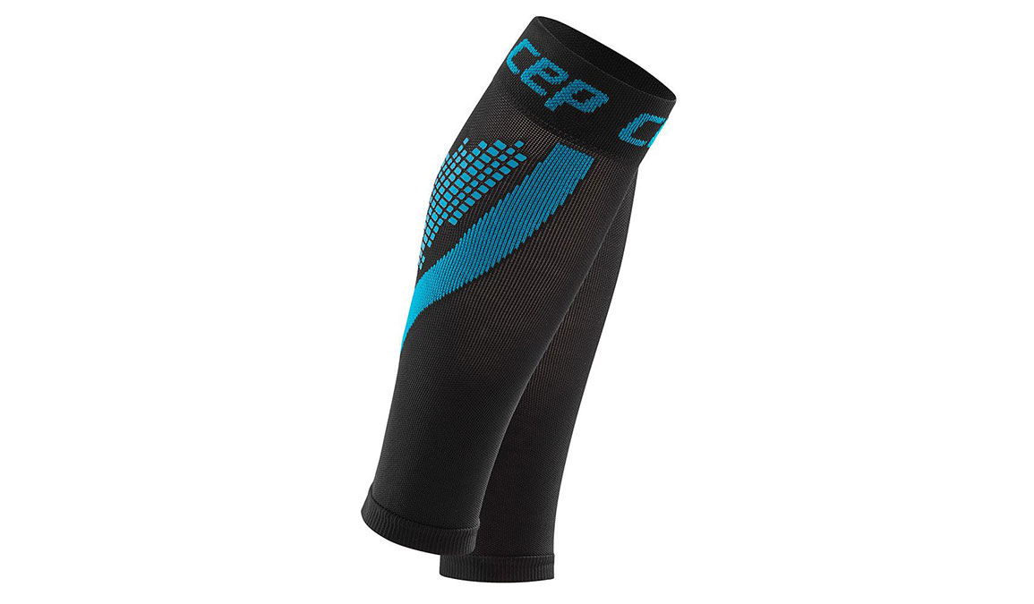 Men's CEP Compression Progessive+ NightTech Calf Sleeves - Color: Night/Blue Size: III, Black/Blue, large, image 1