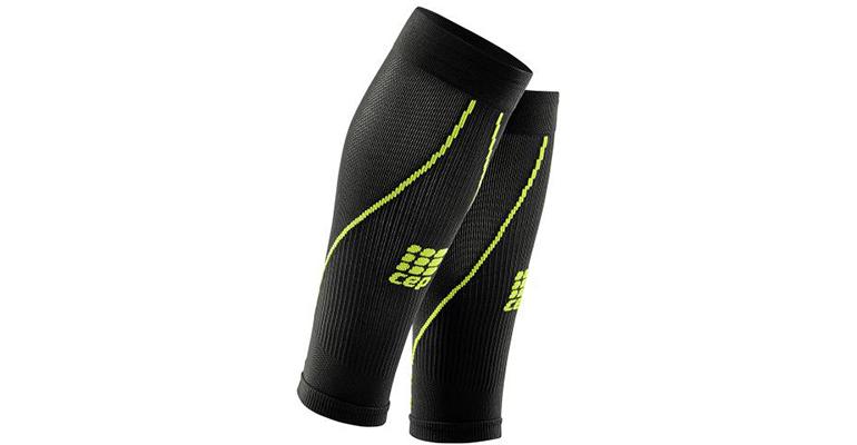 Men's CEP Compression Progressive+ Calf Sleeve 2.0 - Color: Black/Green - Size: IV, Black/Green, large, image 1