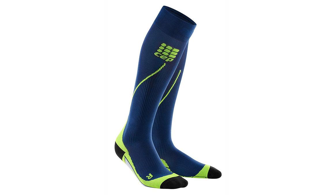 Men's CEP Compression Progressive+ Run Socks 2.0  - Color: Deep Ocean/Green Size: IV, Blue/Green, large, image 1