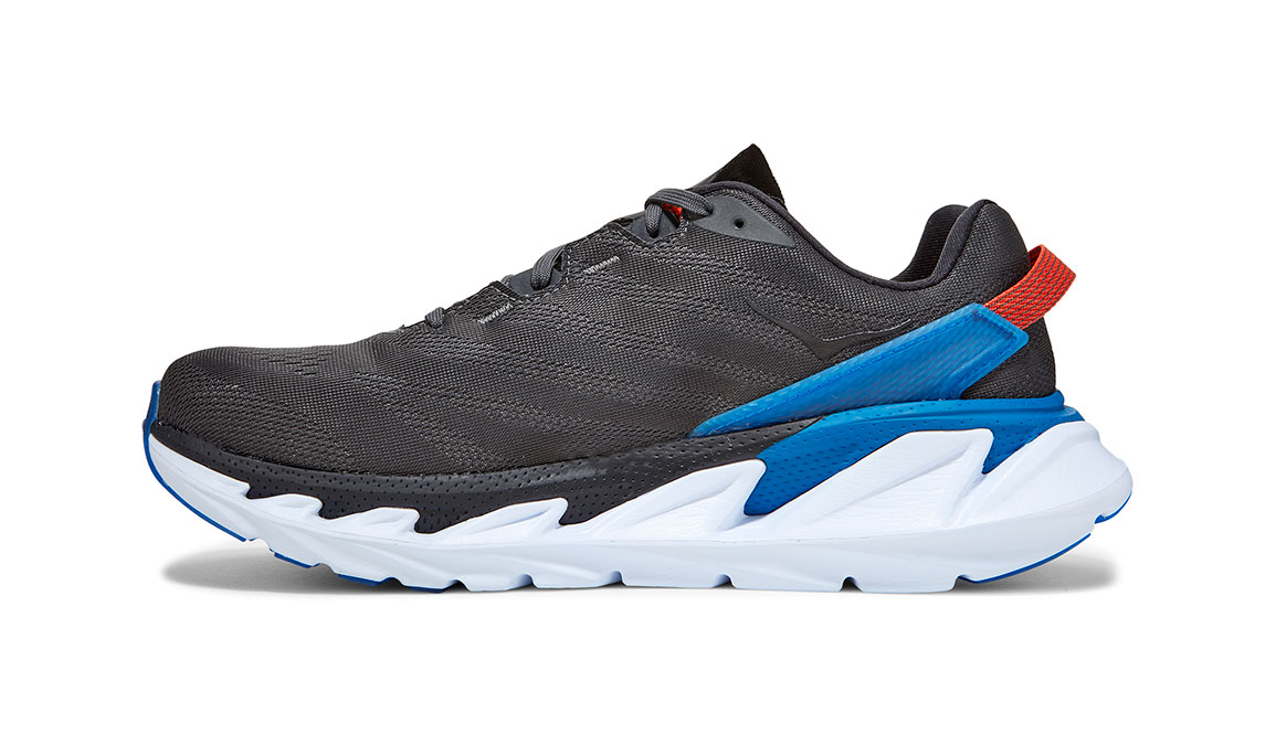 Men's Hoka One One Elevon 2 Running Shoe - Color: Dark Shadow/Imperial Blue (Regular Width) - Size: 7, Dark Shadow/Imperial Blue, large, image 2