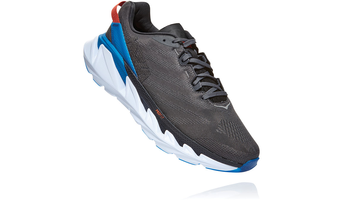 Men's Hoka One One Elevon 2 Running Shoe - Color: Dark Shadow/Imperial Blue (Regular Width) - Size: 7, Dark Shadow/Imperial Blue, large, image 3