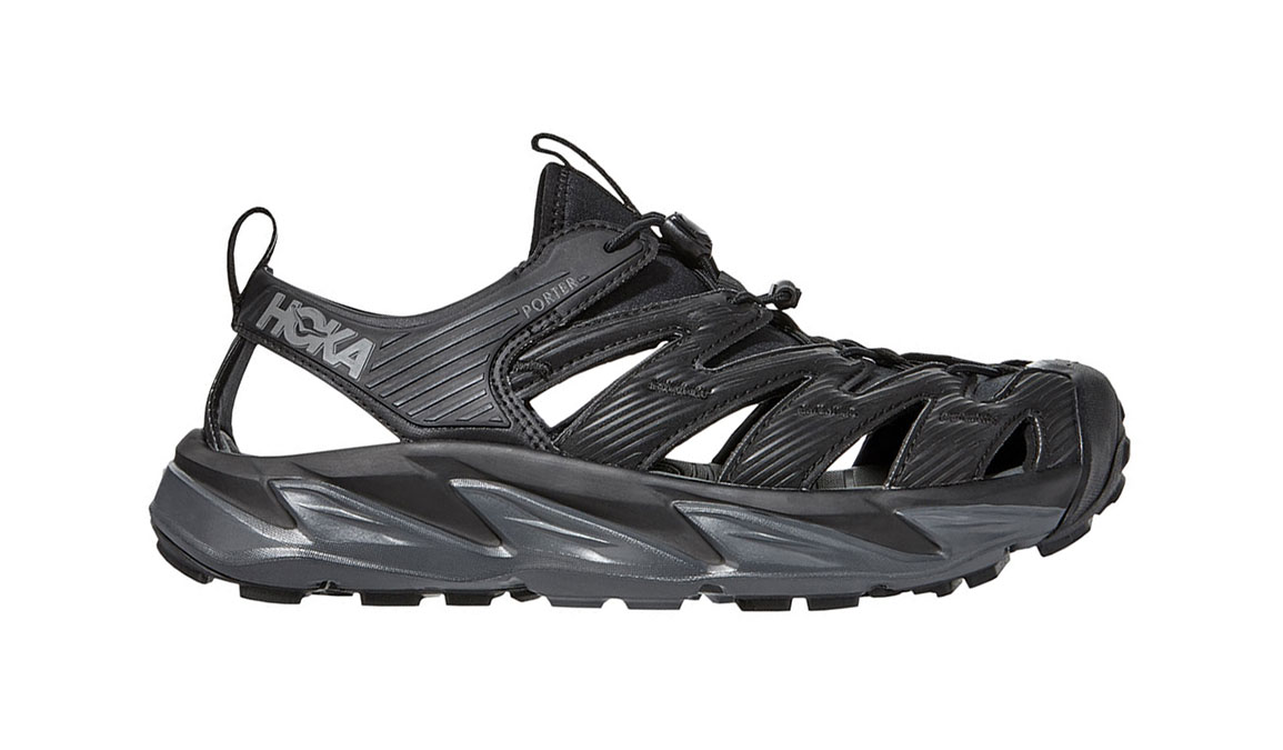 Men's Hoka One One Hopara Hiking Shoe - Color: Black/Dark Shadow (Regular Width) - Size: 7, Black/Dark Shadow, large, image 1