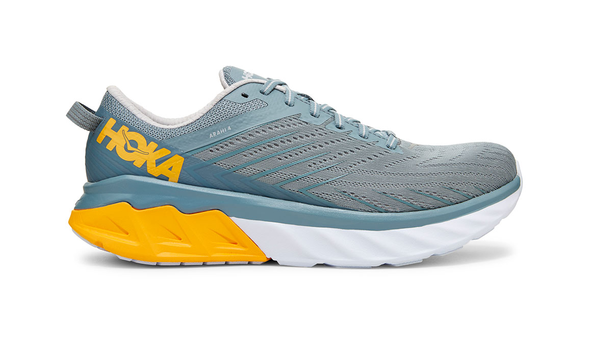 Men's Hoka One One Arahi 4 Running Shoe - Color: Lead/Lunar Rock (Regular Width) - Size: 9, Lead/Lunar Rock, large, image 1