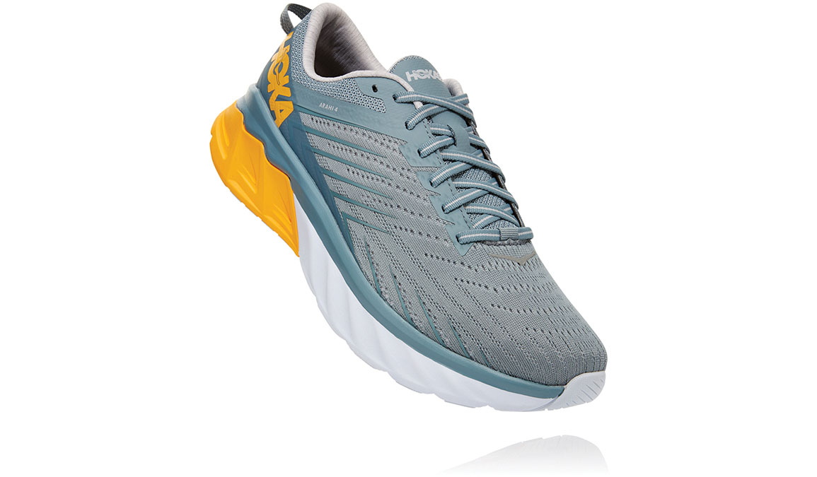 Men's Hoka One One Arahi 4 Running Shoe - Color: Lead/Lunar Rock (Regular Width) - Size: 9, Lead/Lunar Rock, large, image 3