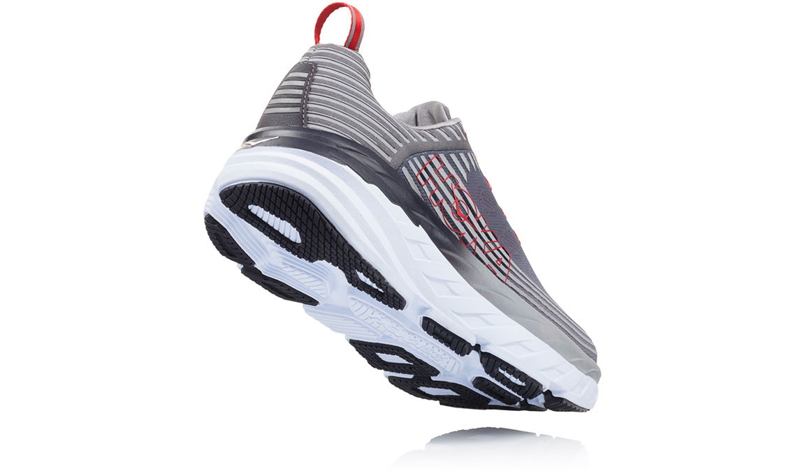 Men's Hoka One One Bondi 6 Running Shoe - Color: Alloy/Steel Grey (Regular Width) - Size: 9.5, Alloy/Steel Grey, large, image 3