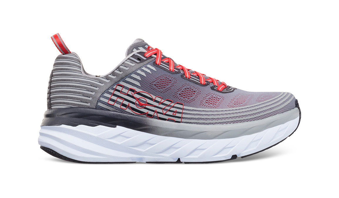Men's Hoka One One Bondi 6 Running Shoe - Color: Alloy/Steel Grey (Regular Width) - Size: 9.5, Alloy/Steel Grey, large, image 1