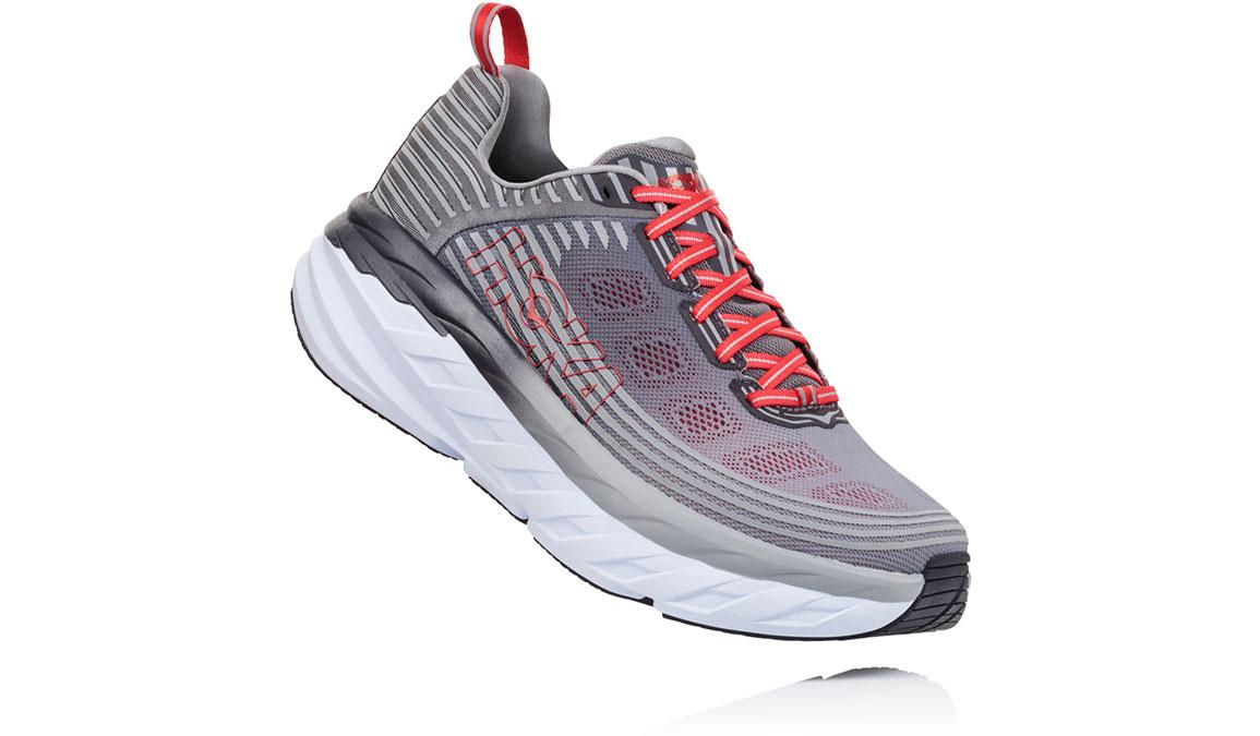 Men's Hoka One One Bondi 6 Running Shoe - Color: Alloy/Steel Grey (Regular Width) - Size: 9.5, Alloy/Steel Grey, large, image 2