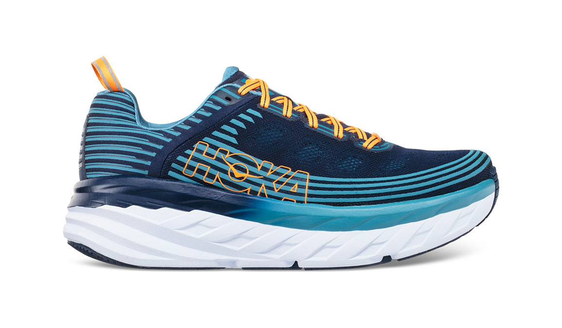 Men's Hoka One One Bondi 6 Running Shoe - Color: Black Iris/Storm Blue (Regular Width) - Size: 9.5, Black Iris/Storm Blue, large, image 1