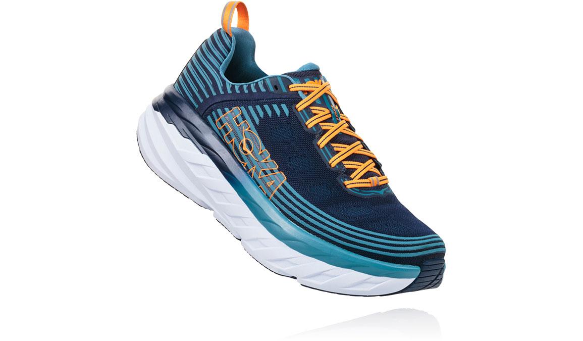 Men's Hoka One One Bondi 6 Running Shoe - Color: Black Iris/Storm Blue (Regular Width) - Size: 9.5, Black Iris/Storm Blue, large, image 2