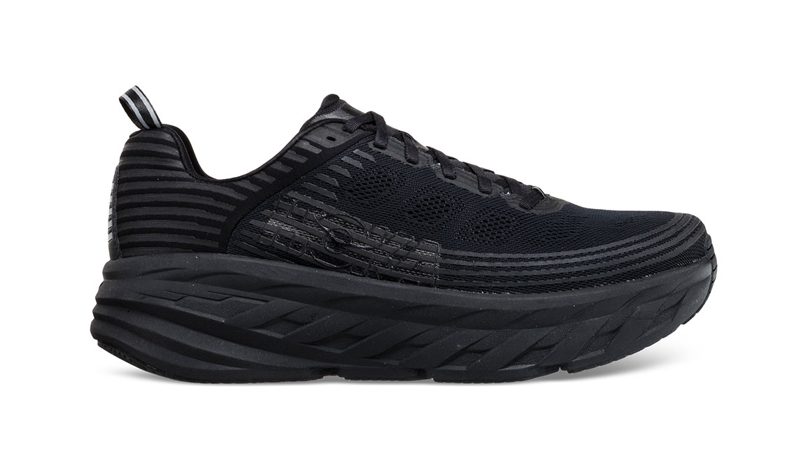 Men's Hoka One One Bondi 6 Running Shoe - Color: Black/Black (Regular Width) - Size: 10, Black/Black, large, image 1
