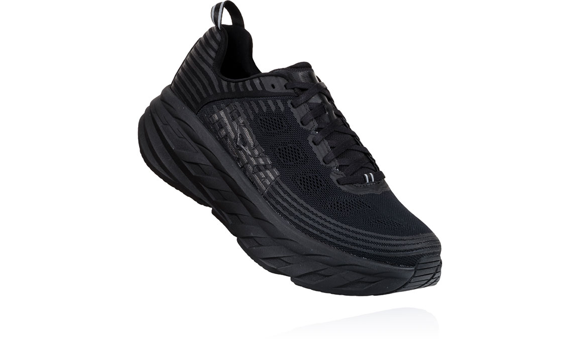 Men's Hoka One One Bondi 6 Running Shoe - Color: Black/Black (Regular Width) - Size: 10, Black/Black, large, image 2