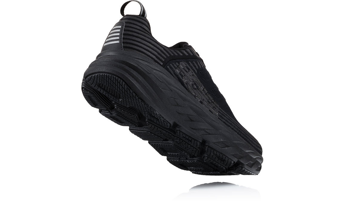 Men's Hoka One One Bondi 6 Running Shoe - Color: Black/Black (Regular Width) - Size: 10, Black/Black, large, image 3