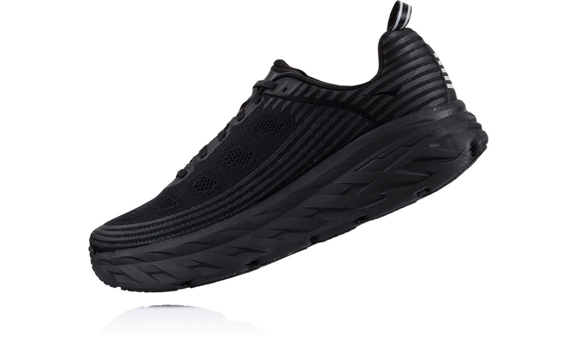 Men's Hoka One One Bondi 6 Running Shoe - Color: Black/Black (Regular Width) - Size: 10, Black/Black, large, image 4