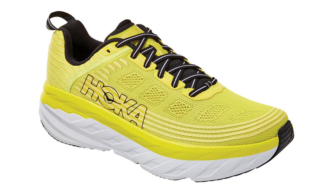 Men's Hoka One One Bondi 6 Running Shoe - Color: Citrus/Anthracite (Regular Width) - Size: 7, Citrus/Anthracite, large, image 4