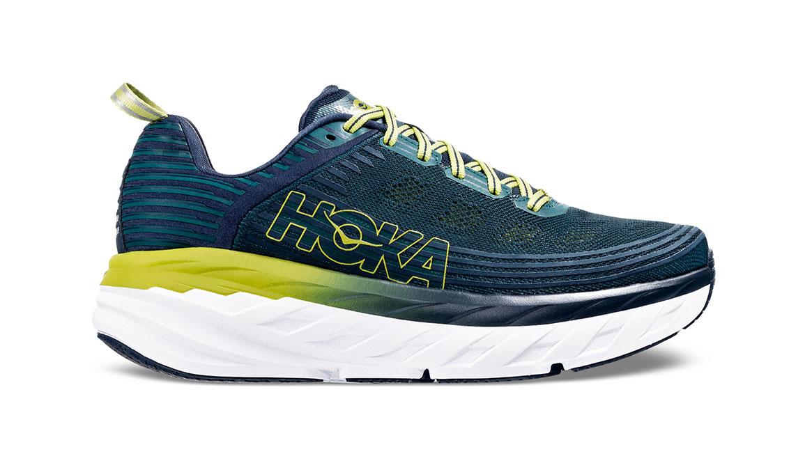 Men's Hoka One One Bondi 6 Running Shoe - Color: Deep Teal/Green Oasis (Regular Width) - Size: 7, Deep Teal/Green Oasis, large, image 1