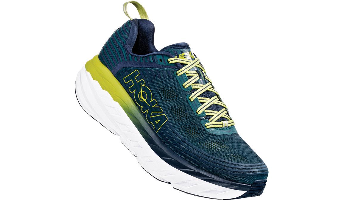 Men's Hoka One One Bondi 6 Running Shoe - Color: Deep Teal/Green Oasis (Regular Width) - Size: 7, Deep Teal/Green Oasis, large, image 2