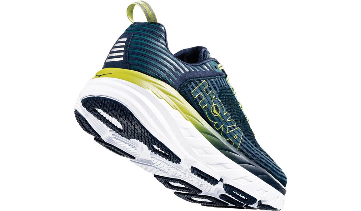 Men's Hoka One One Bondi 6 Running Shoe - Color: Deep Teal/Green Oasis (Regular Width) - Size: 7, Deep Teal/Green Oasis, large, image 3