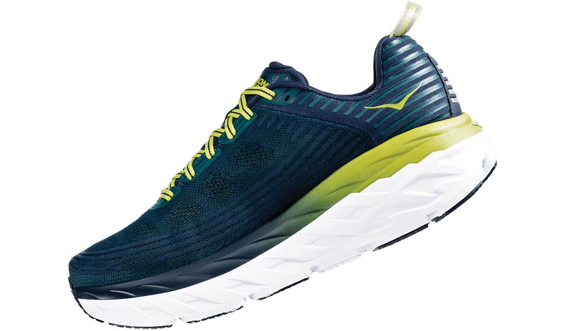 Men's Hoka One One Bondi 6 Running Shoe - Color: Deep Teal/Green Oasis (Regular Width) - Size: 7, Deep Teal/Green Oasis, large, image 4