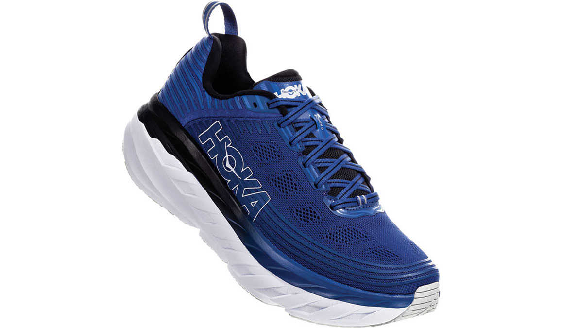 Men's Hoka One One Bondi 6 Running Shoe - Color: Galaxy Blue/Anthracite (Regular Width) - Size: 9.5, Galaxy Blue/Anthracite, large, image 2