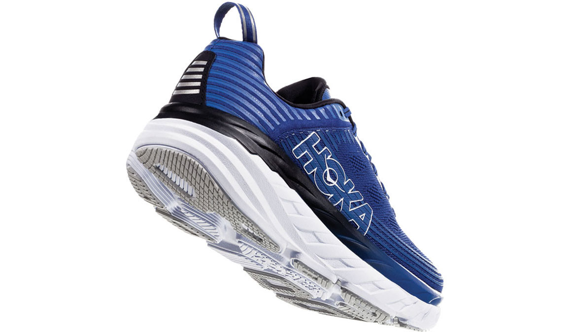 Men's Hoka One One Bondi 6 Running Shoe - Color: Galaxy Blue/Anthracite (Regular Width) - Size: 9.5, Galaxy Blue/Anthracite, large, image 3