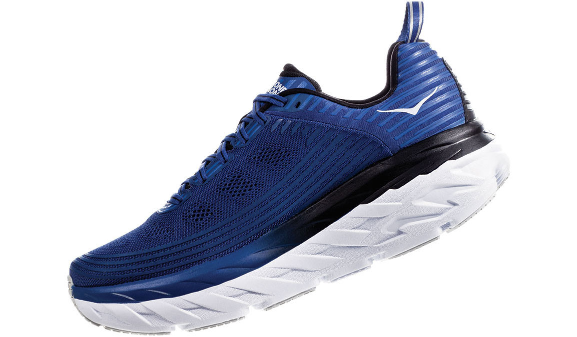 Men's Hoka One One Bondi 6 Running Shoe - Color: Galaxy Blue/Anthracite (Regular Width) - Size: 9.5, Galaxy Blue/Anthracite, large, image 4