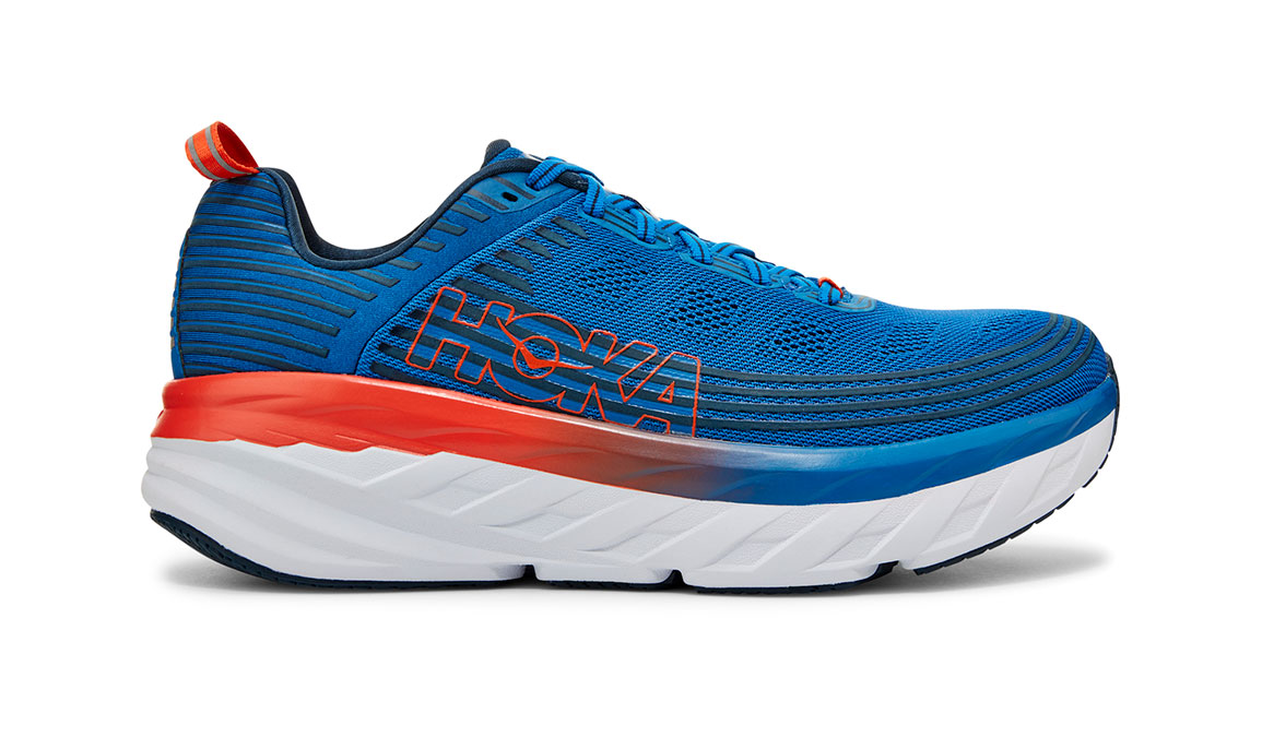 Men's Hoka One One Bondi 6 Running Shoe - Color: Imperial Blue/Majolica Blue (Regular Width) - Size: 7, Imperial Blue/Majolica Blue, large, image 1