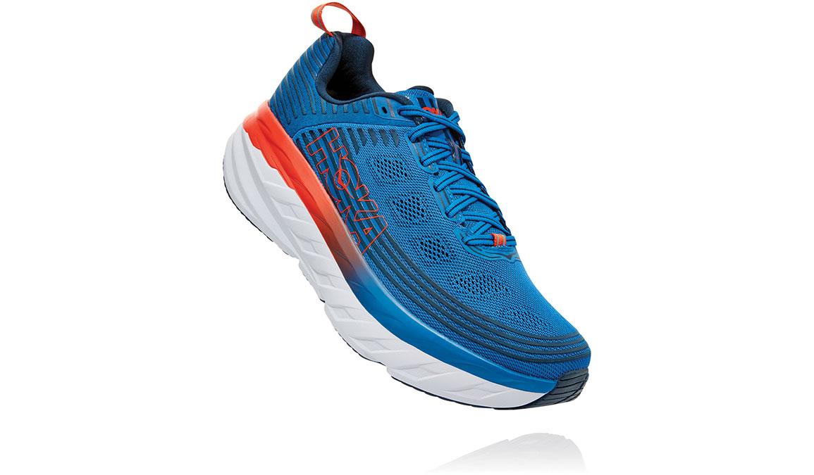Men's Hoka One One Bondi 6 Running Shoe - Color: Imperial Blue/Majolica Blue (Regular Width) - Size: 7, Imperial Blue/Majolica Blue, large, image 2