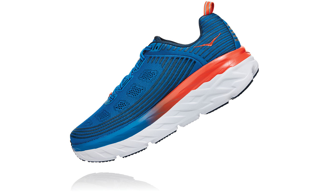 Men's Hoka One One Bondi 6 Running Shoe - Color: Imperial Blue/Majolica Blue (Regular Width) - Size: 7, Imperial Blue/Majolica Blue, large, image 4