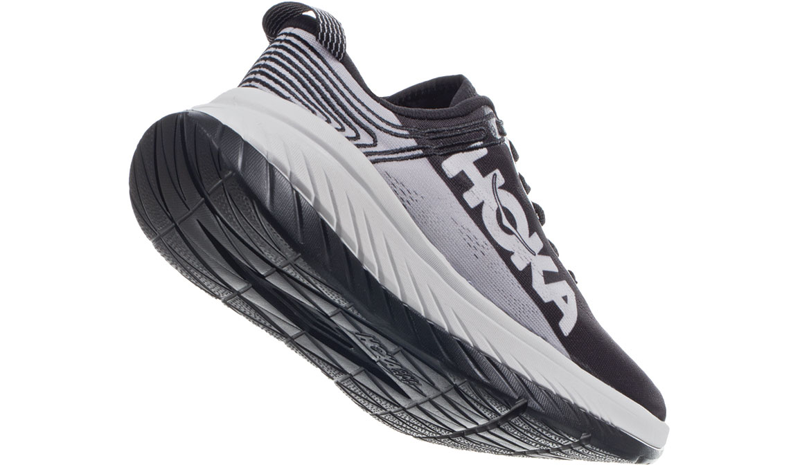 Men's Hoka One One Carbon X Running Shoe - Color: Black Cloud/Nimbus Cloud (Regular Width) - Size: 7, Black Cloud/Nimbus Cloud, large, image 3