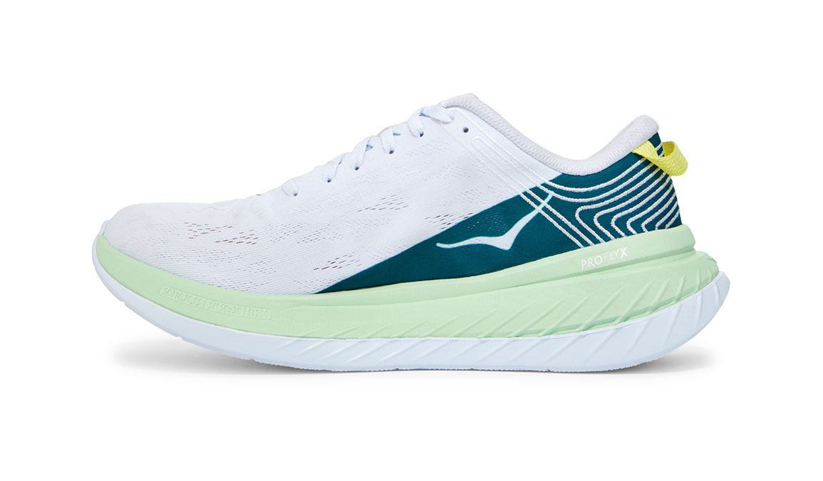 Men's Hoka One One Carbon X Running Shoe - Color: Green Ash/White (Regular Width) - Size: 8.5, Green Ash/White, large, image 2