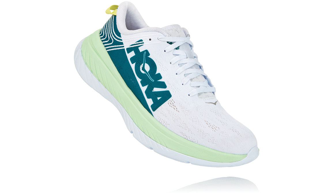 Men's Hoka One One Carbon X Running Shoe - Color: Green Ash/White (Regular Width) - Size: 8.5, Green Ash/White, large, image 3