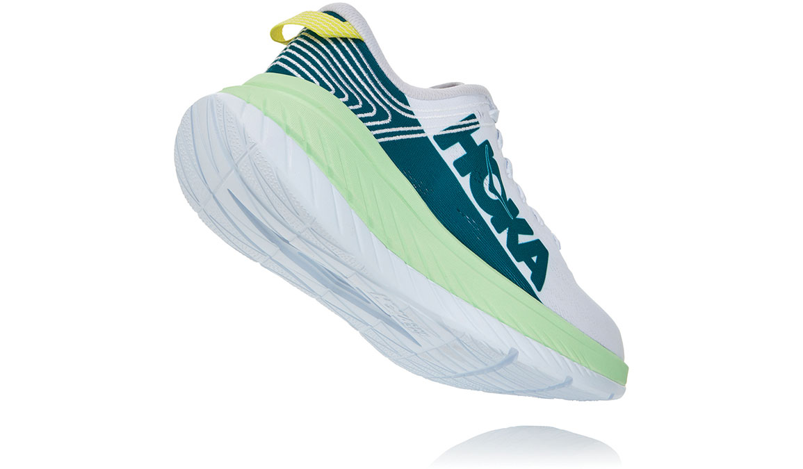 Men's Hoka One One Carbon X Running Shoe - Color: Green Ash/White (Regular Width) - Size: 8.5, Green Ash/White, large, image 4
