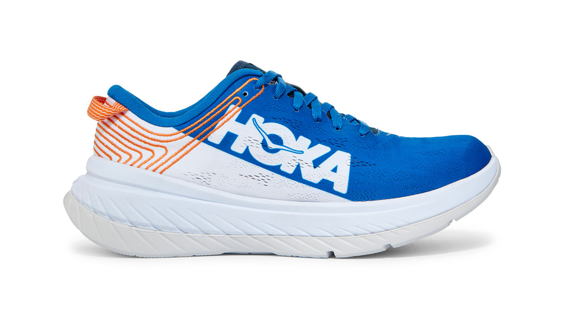 Men's Hoka One One Carbon X Running Shoe - Color: Imperial Blue/White (Regular Width) - Size: 7, Imperial Blue/White, large, image 1