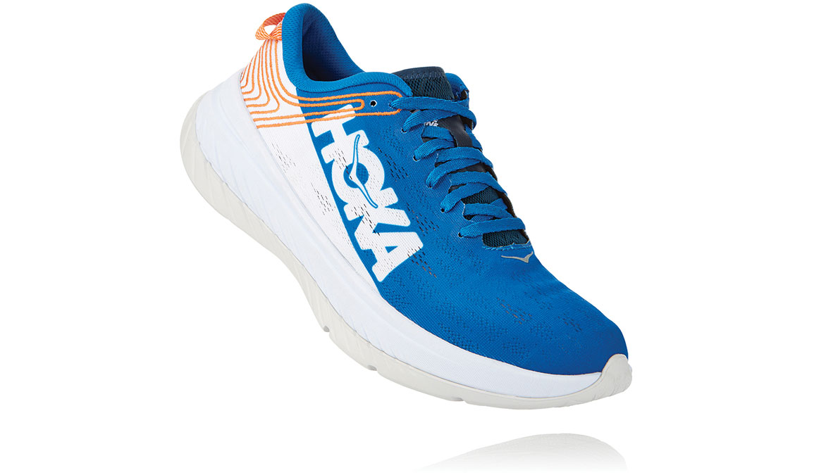 Men's Hoka One One Carbon X Running Shoe - Color: Imperial Blue/White (Regular Width) - Size: 7, Imperial Blue/White, large, image 2