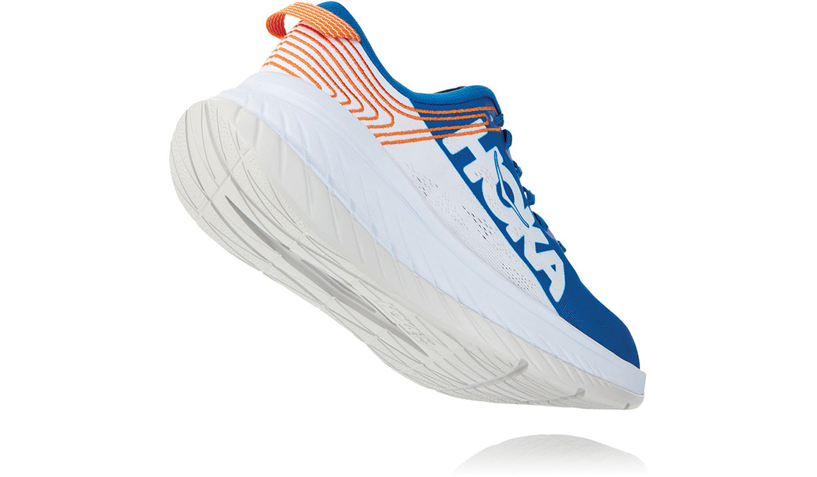Men's Hoka One One Carbon X Running Shoe - Color: Imperial Blue/White (Regular Width) - Size: 7, Imperial Blue/White, large, image 3